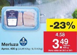 Oferta de Merluza por 4.58€