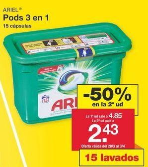 Oferta de Detergente en cápsulas Ariel por 4.85€