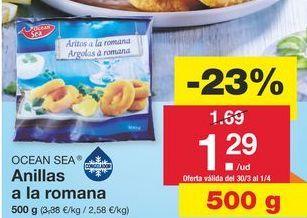Oferta de Anillas de calamar ocean sea por 1.69€