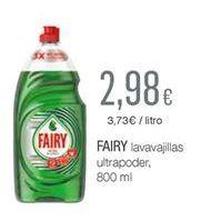 Oferta de Detergente lavavajillas Fairy por 2.98€