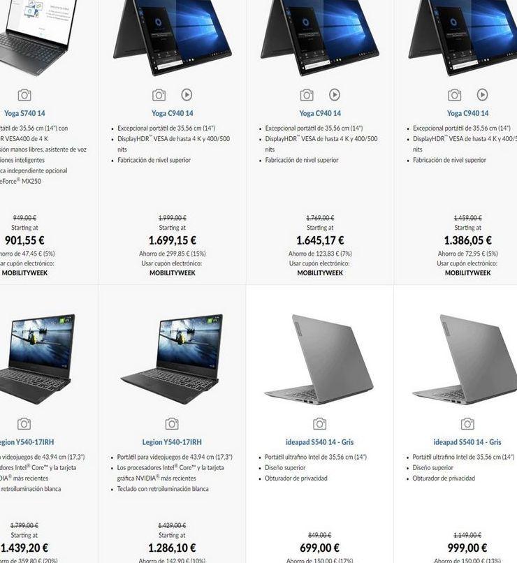 Oferta de Ordenador portátil Lenovo por