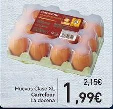 Oferta de Huevos Clase XL Carrefour por 1.99€