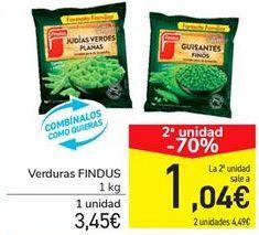 Oferta de Verduras FINDUS por 3.45€
