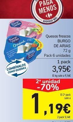 Oferta de Queso fresco BURGO DE ARIAS por 3.95€