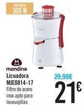 Oferta de Licuadora Mandine MJE0814-17 por 21€
