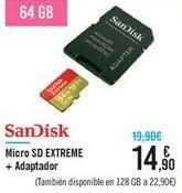 Oferta de Micro SD EXTREME + Adaptador  por 14.9€