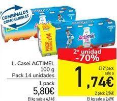 Oferta de L. Casei ACTIMEL por 5.8€