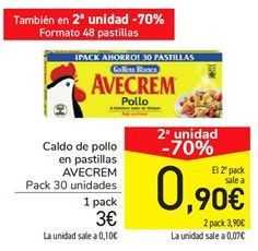 Oferta de Caldo de pollo en pastillas AVECREM por 3€
