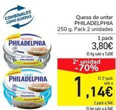 Oferta de Queso de untar PHILADELPHIA por 3.8€