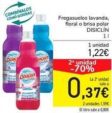 Oferta de Fregasuelos lavanda floral o brisa polar DISCILIN por 1,22€