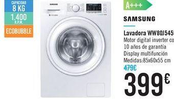 Oferta de Lavadora WW80J5455 SAMSUNG por 399€