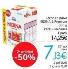 Oferta de Leche en polvo NIDINA 2 Premium por 14,25€