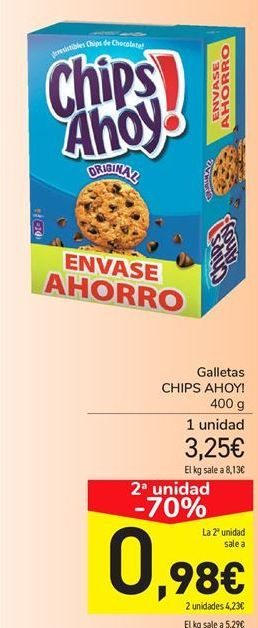 Oferta de Galletas Chips Ahoy por 3.25€