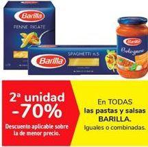 Oferta de En TODAS las pastas y salsas BARILLA por