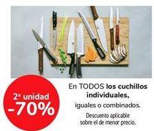 Oferta de En TODOS los cuchillos individuales, iguales o combinados  por