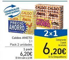 Oferta de Caldos Aneto por 6.2€