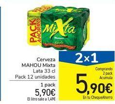Oferta de Cerveza MAHOU Mixta por 5,9€