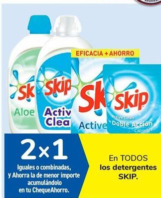 Oferta de En TODOS los detergentes SKIP. por