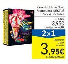 Oferta de Cono Extrême Gold Frambuesa NESTLÉ por 3.95€