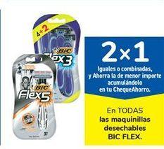 Oferta de En TODAS las maquinillas desechables BIC FLEX por