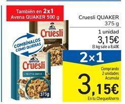 Oferta de Cruesli QUAKER 375 g por 3,15€