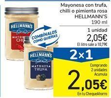 Oferta de Mayonesa con trufa, chilli o pimienta rosa HELLMANN'S 190 ml por 2,05€