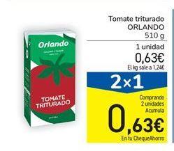 Oferta de Tomate triturado ORLANDO 510 g por 0,63€