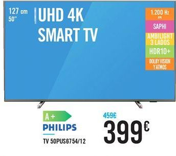 Oferta de TV 50pus6754/12 PHILIPS por 399€