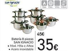 Oferta de Batería 8 piezas SAN IGNACIO  por 35€