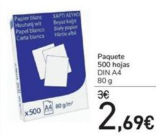 Oferta de Paquete 500 Hojas  por 2.69€