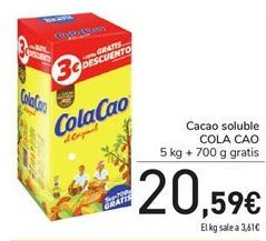 Oferta de Cacao soluble COLA CAO 5kg por 20.59€