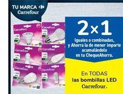 Oferta de En TODAS las bombillas LED Carrefour por