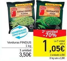 Oferta de Verduras FINDUS por 3.5€