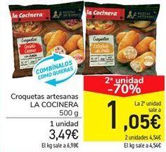 Oferta de Croquetas artesanas LA COCINERA por 3.49€