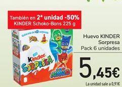 Oferta de Huevo KINDER Sorpresa por 5,45€