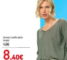 Oferta de Jersey cuello pico mujer  por 8,4€