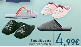 Oferta de Zapatillas casa hombre o mujer  por 4,99€