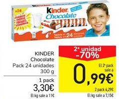 Oferta de KINDER Chocolate por 3,3€