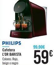 Oferta de Cafetera L'OR BARISTA PHILIPS por 59€