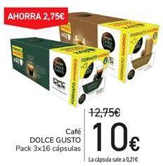 Oferta de Café DOLCE GUSTO por 10€