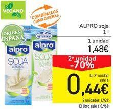 Oferta de ALPRO soja por 1.48€