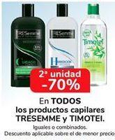Oferta de En TODOS los productos capilares TRESEMME y TIMOTEI, iguales o combinados por