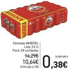 Oferta de Cerveza AMSTEL por 10,64€
