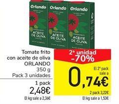 Oferta de Tomate frito con aceite de oliva ORLANDO por 2,48€