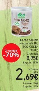 Oferta de Cacao soluble con panela Bio ECO CESTA por 8,95€