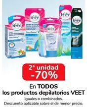 Oferta de En TODOS los productos depilatorios VEET, iguales o combinados  por