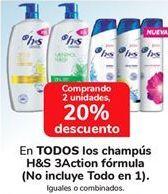 Oferta de En TODOS los champús h&s 3Action Fórmula por
