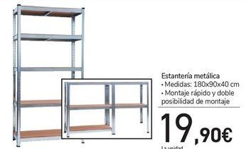 Oferta de Estantería metálica  por 19,9€