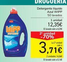 Oferta de Detergente líquido Azul WIPP por 12,35€