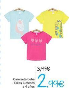Oferta de Camiseta bebé por 2,99€